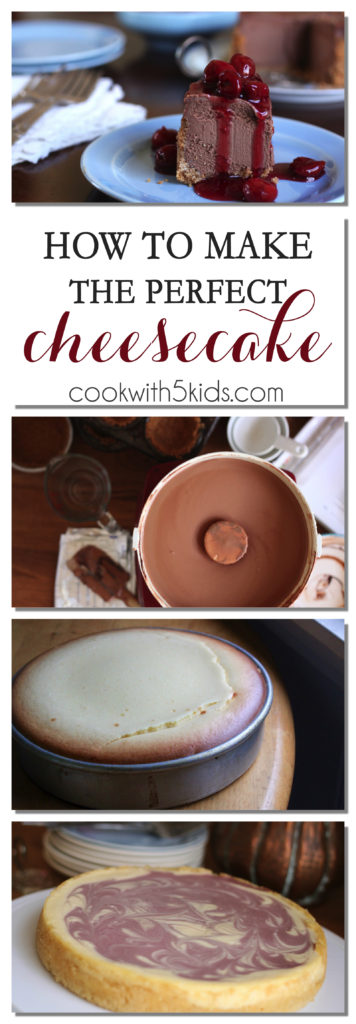 how-to-make-cheesecake full story at www.cookwith5kids.com