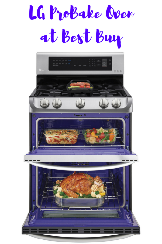 LG Best Buy Double oven for the holidays. Full story at www.cookwith5kids.com