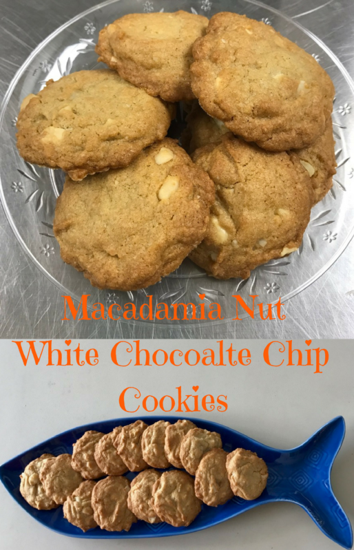 Cookie Swap! White chocolate chip macadamia nut cookies Full recipe at www.cookwith5kids.com and part of #CookieSwappinGood