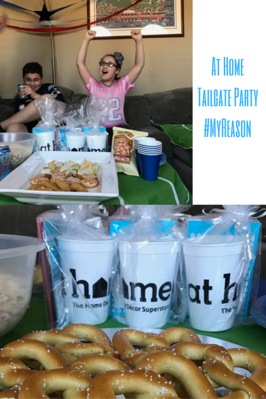 At Home Tailgate Parties are #MyReason to have a party. Full story at www.cookwith5kids.com