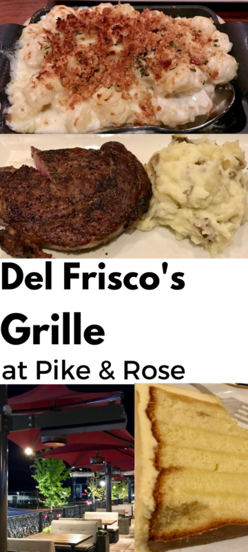 Del Frisco's Grille at Pike & Rose. Full story at www.cookwith5kids.com