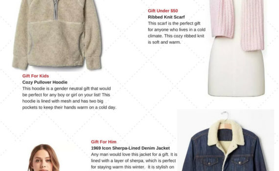 Savings.com Holiday Gift Guide featuring gifts from the GAP. Full story at https://cookwith5kids.com/2016/11/savings-com-holiday-gift-guide/