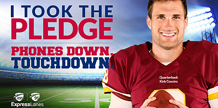 Hands Down Touchdown with Kirk Cousins. Full story at www.cookwith5kids.com