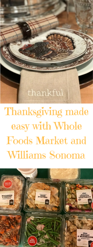 Thanksgiving made easy with Whole Foods and Williams Sonoma. Full story at www.cookwith5kids.com