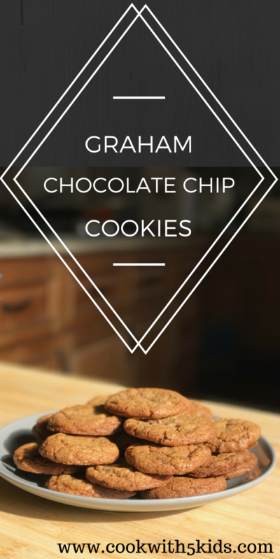 Graham chocolate chip cookies www.cookwith5kids.com