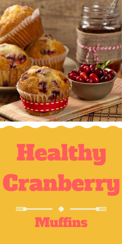 Healthy cranberry Muffins. Recipe at www.cookwith5kids.com