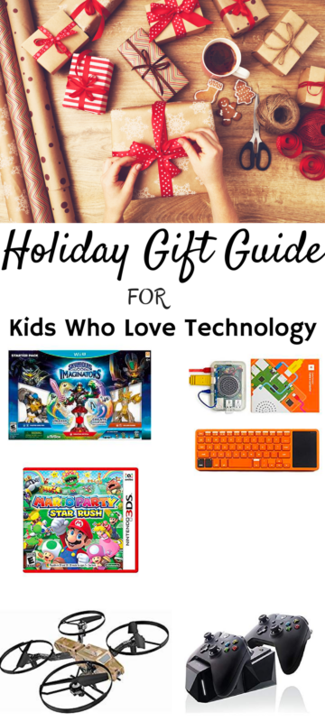 Tech gift guide for kids. www.cookwith5kids.com