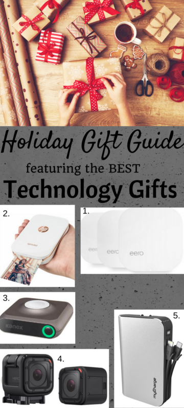 Tech Gift guide. All the best technology gifts to buy for the Holidays 2016. Full story at www.cookwith5kids.com