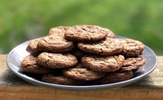 Graham chocolate chip cookies www.cookwith5kids.com