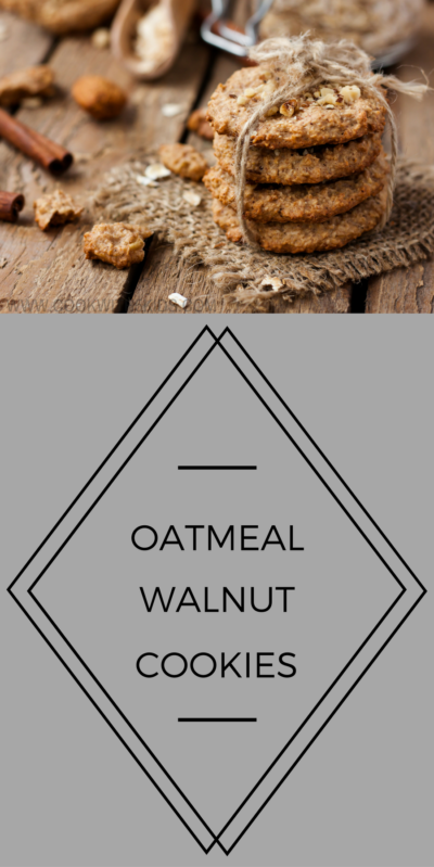 Oatmeal walnut cookies from www.cookwith5kids.com