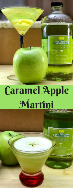 Caramel Apple Martini from www.cookwith5kids.com