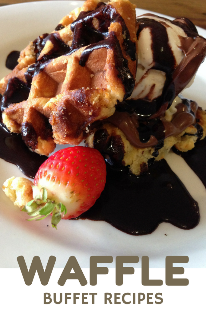 Waffle Buffet - Easy brunch ideas via Cookwith5kids @cookwith5kids mom blog