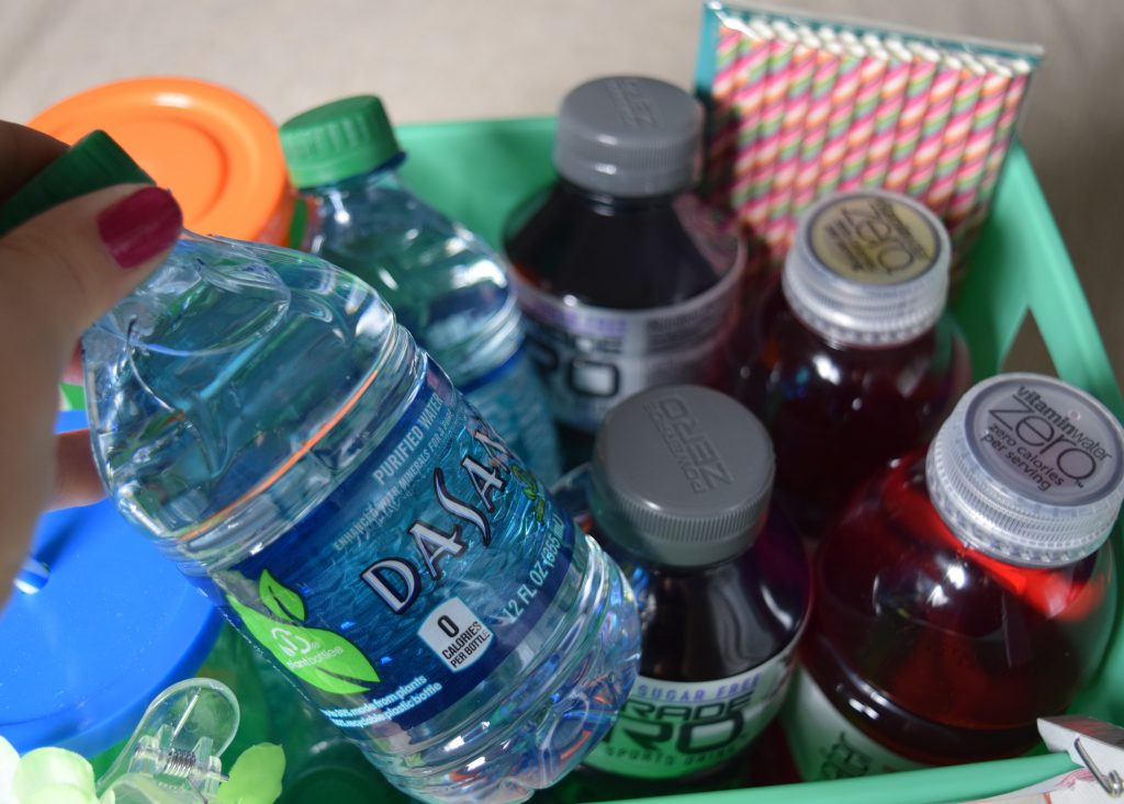 Make a Hydration Station with DASANI, vitaminwater Zero, and powerade ZERO and via Cookwith5kids @cookwith5kids mom blog #shop