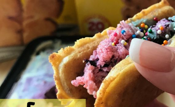 Eggo Rainbow Breakfast Taco #LeggomyEggo #HeartheNews #ad #shop