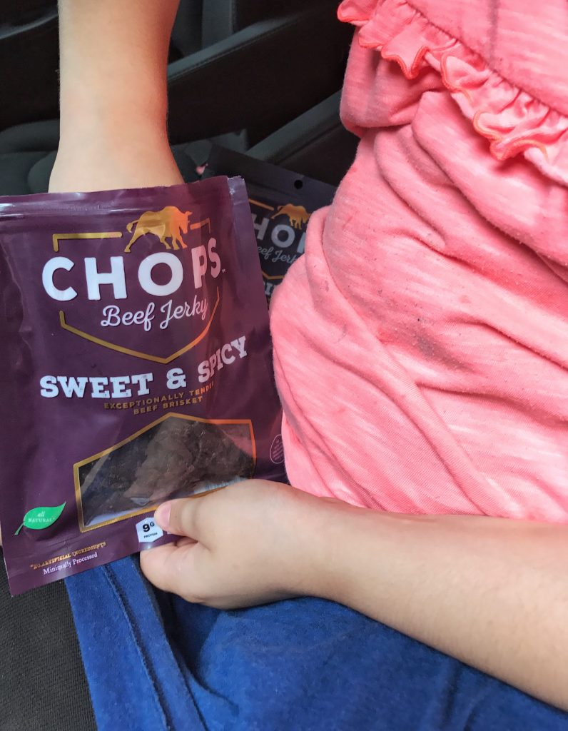 Road Trip Entertainment and Snacks- Chops Beef Jerky