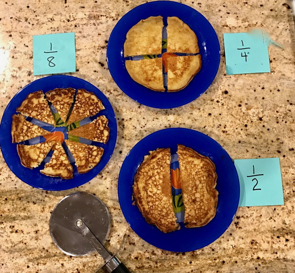fun math: learning fractions with oatmeal pancakes