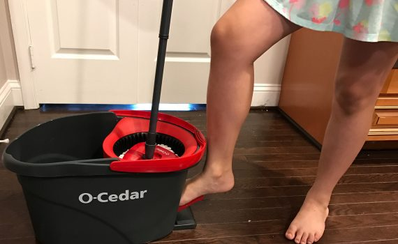Chores for kids can be fun with the right tools. O-Cedar easy wring mop and bucket system
