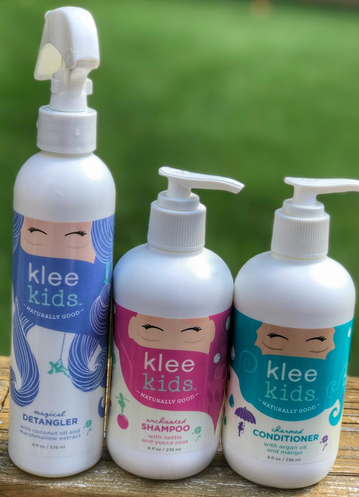 Klee Kids all natural hair products for kids. Part of the back to school survival guide