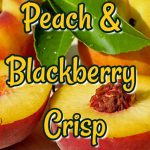 peach blackberry crisp via www.cookwith5kids.com