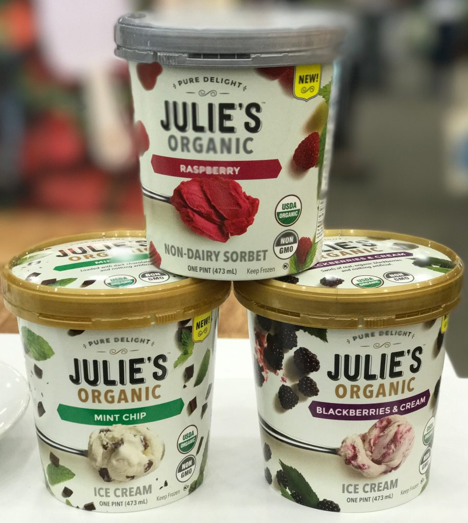 Julie's organic ice cream and sorbet