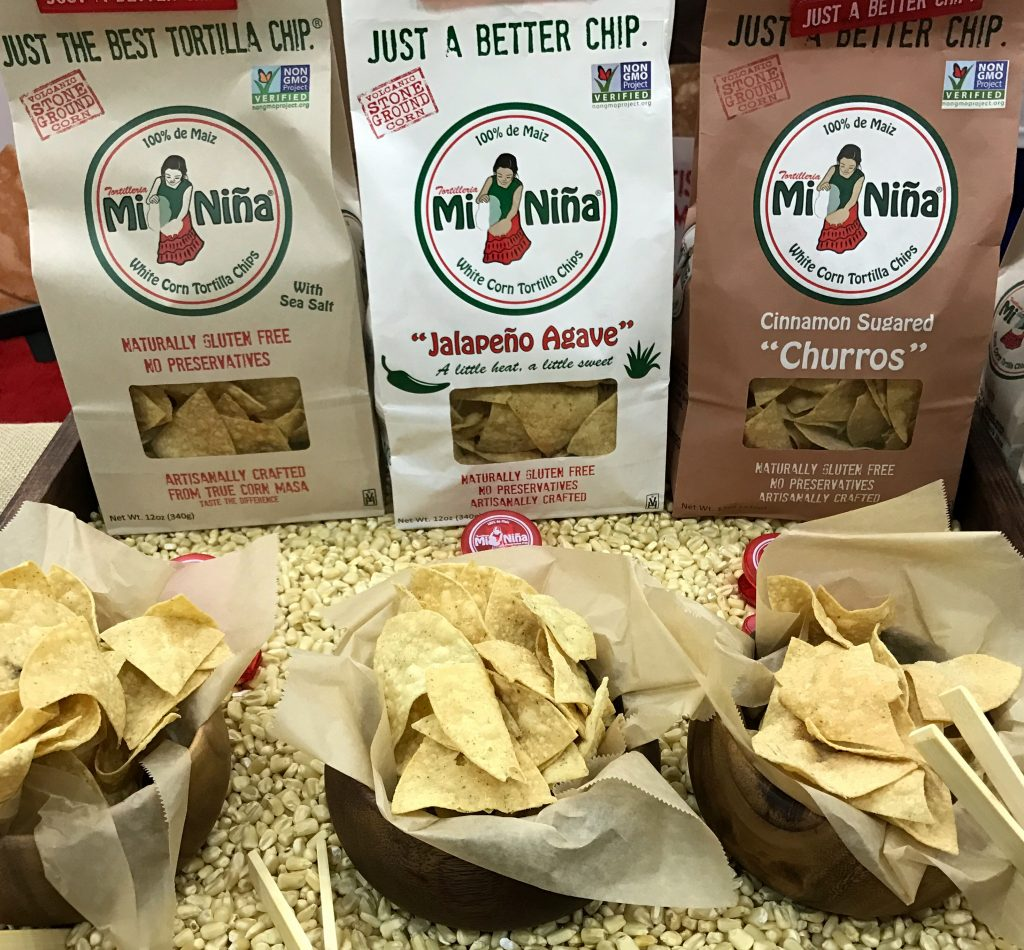 Minina Tortilla tortilla chips are preservative free and gluten free