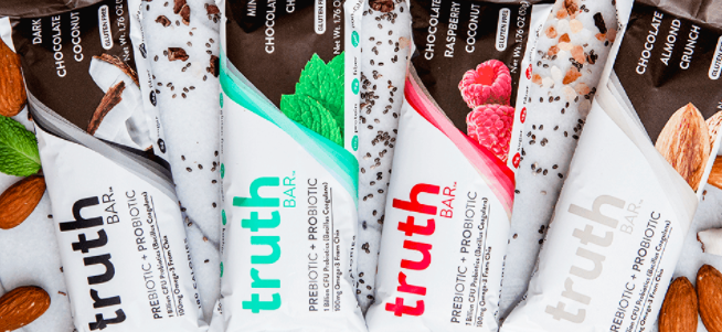 Truth bars with probiotics and prebiotics
