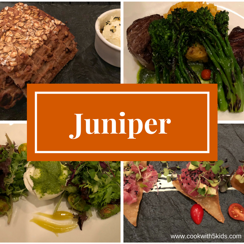 Fine Dining at Juniper restaurant at Fairmont DC hotel in Georgetown