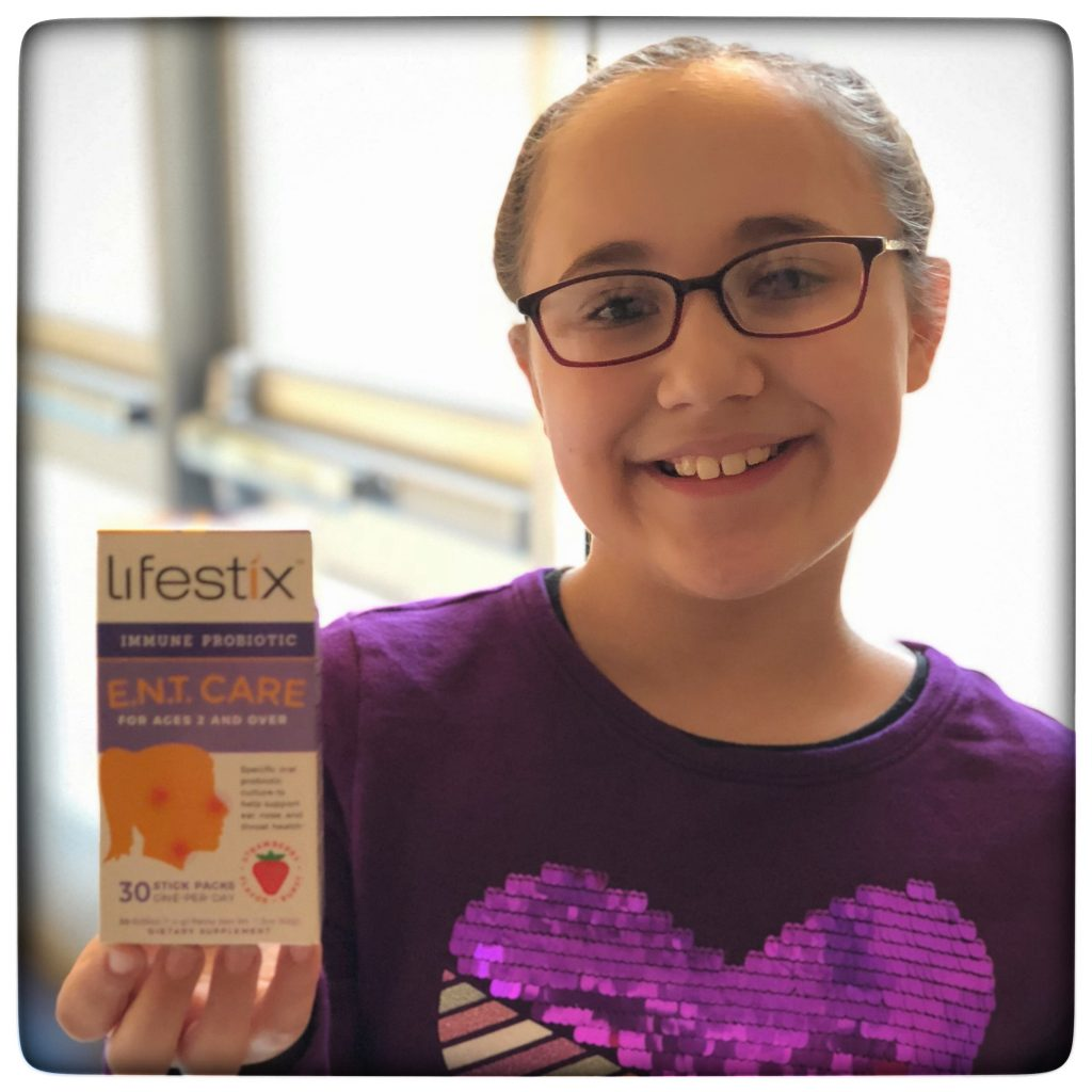 Once a day, Strawberry flavored probiotic supplements that my kids love
