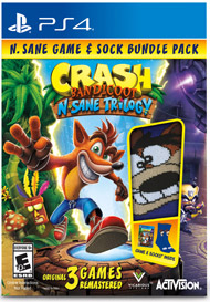 Crash Bandicoot Game and Socks make a great gift for teens