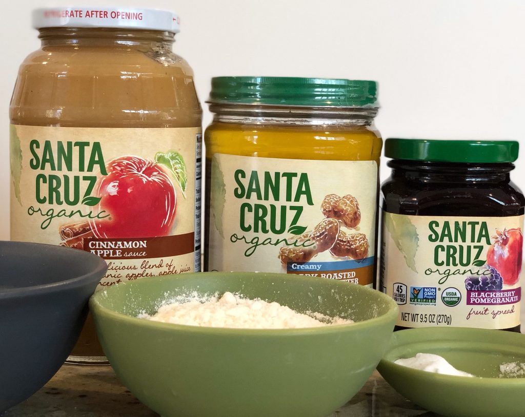 Organic Peanut Butter and Jelly cookies with Santa Cruz organic ingredients