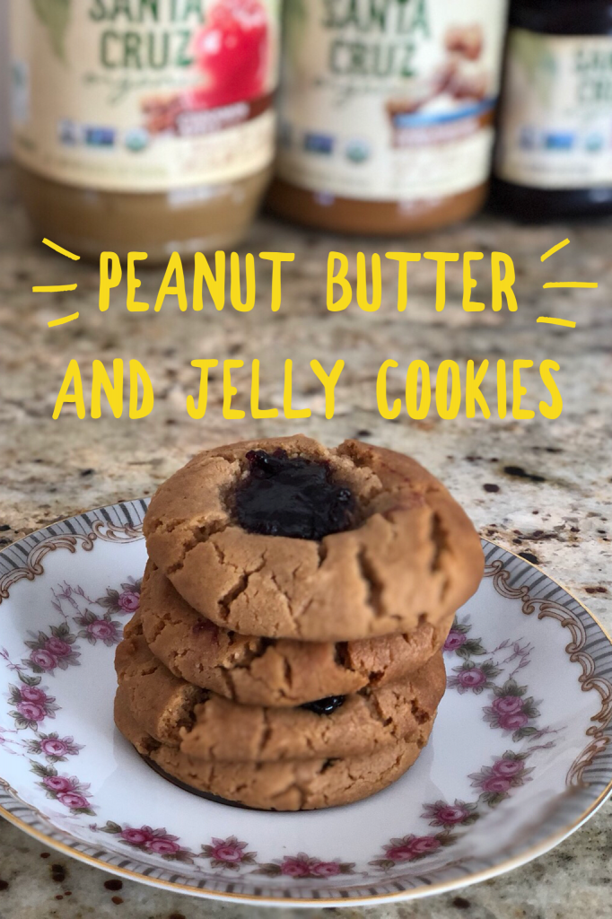 Vegan and Organic Peanut Butter and Jelly cookies