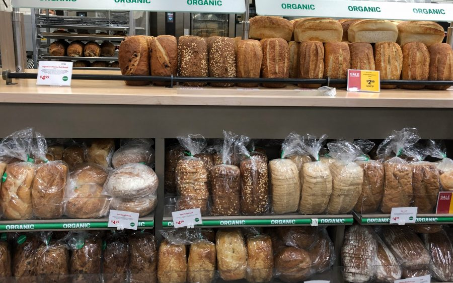 Bakery with fresh breads and desserts at Earth Fare Fairfax