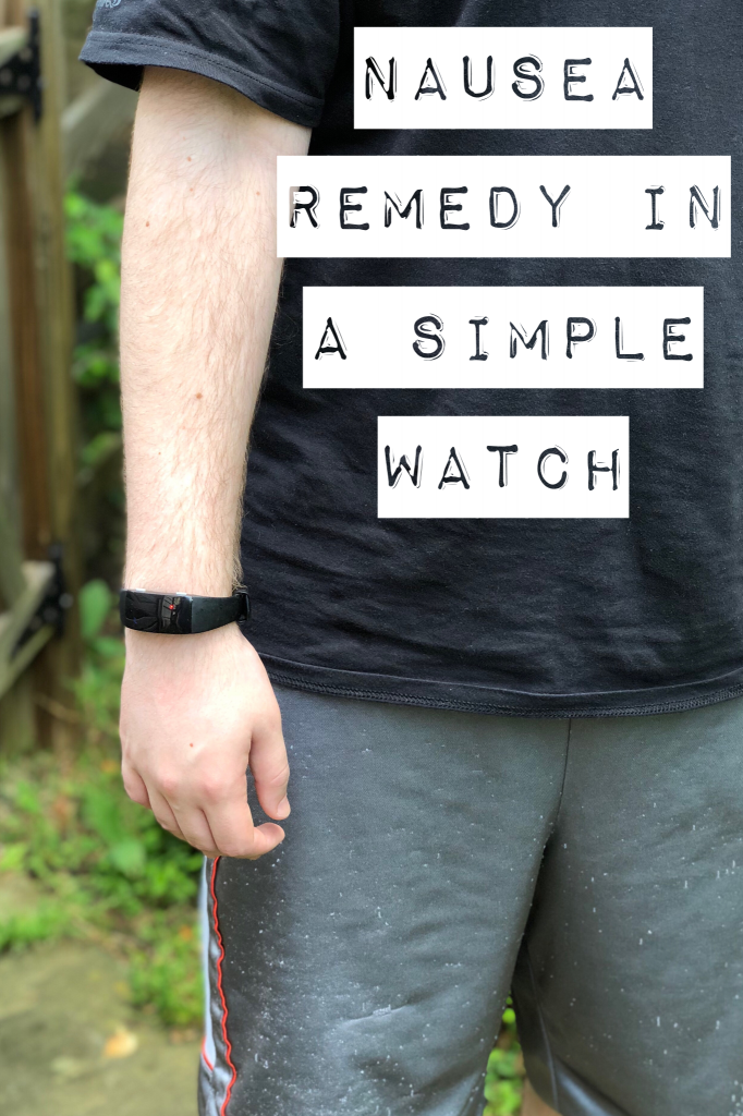 Nausea relief with a simple watch device