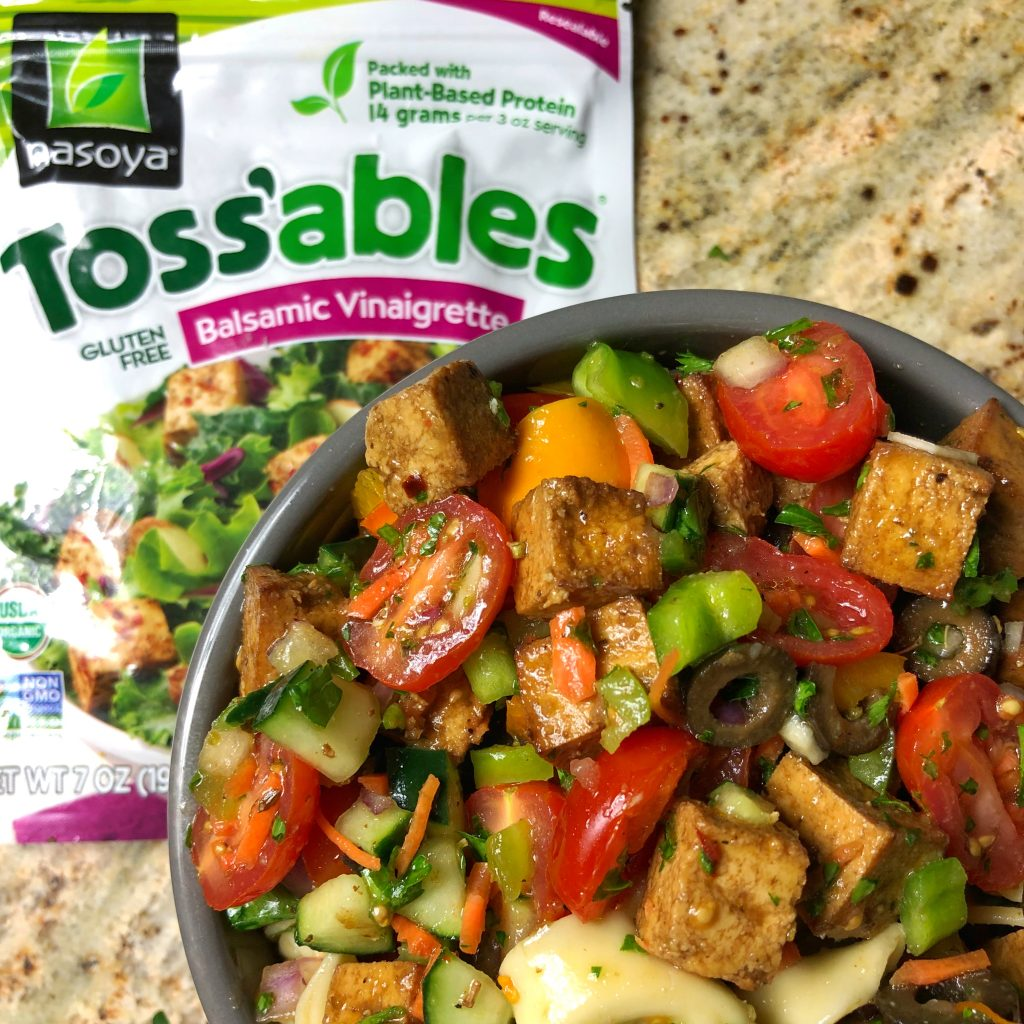 Tortellini Tofu Pasta Salad with Nasoya Toss'ables Pasta Salad Recipes