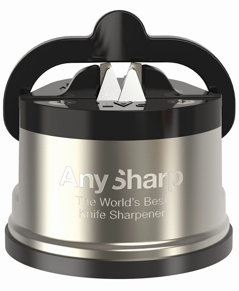 fathers day gift guide. anysharp knife sharpener makes a great gift for Dad