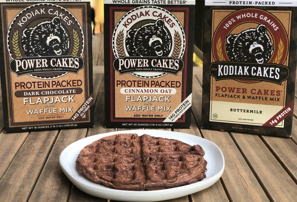 Rocky Road Waffles with Kodiak Cakes waffle mix