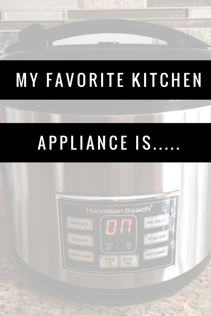 most important kitchen appliance is the rice cooker