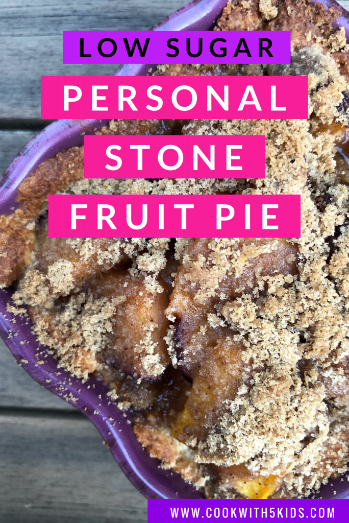 personal stone fruit low sugar pie