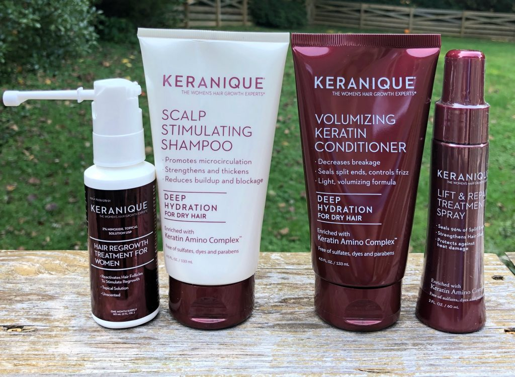 thinning hair treatment Keranique helps with hair regrowth