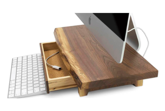EVO mac stand, computer stand, made from natural wood, great tech gift, tech gift guide