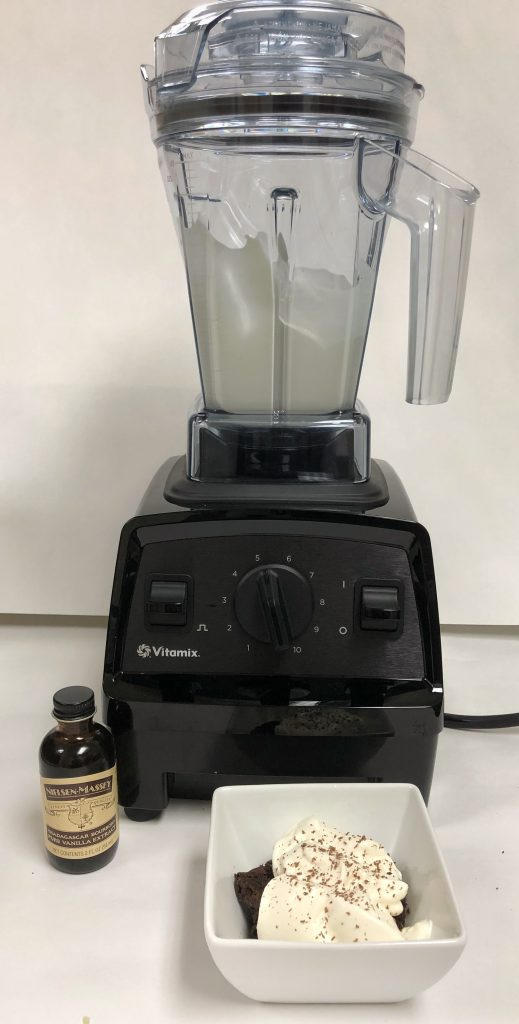 Vitamix E310 with the Vitamix Aer attachment