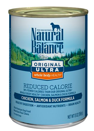 Natural Balance Original Ultra Whole Body Health Reduced Calorie Chicken, Salmon & Duck Formula Canned Dog Food, buy it at Chewy.com