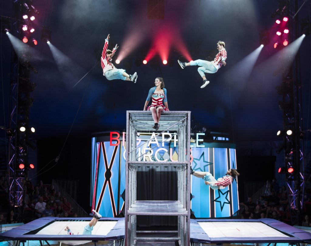1 - Spicy Circus Trampoline Act in BIG APPLE CIRCUS. (c) Juliana Crawford