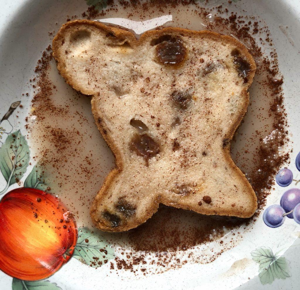 Vegan gluten free french toast with aquafaba