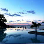 Sunset at the infinity pool at the Hyatt Regency Chesapeake Bay