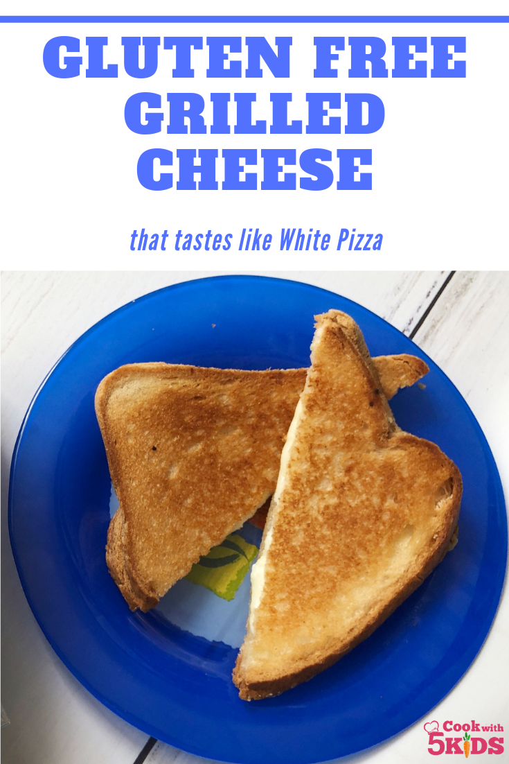 Gluten Free Grilled Cheese that tastes like a white pizza