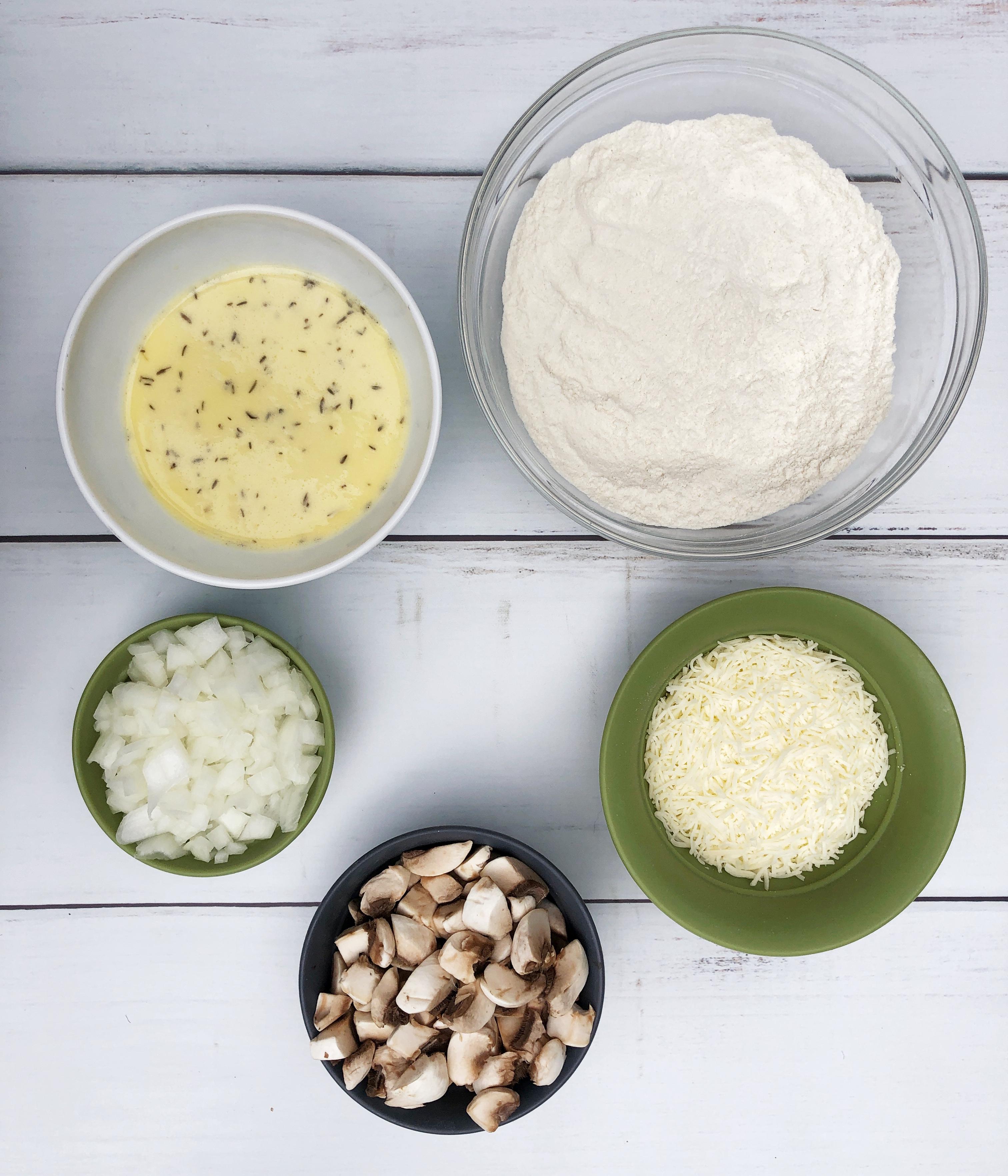 ingredients for breakfast quiche