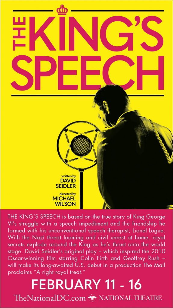 The King's Speech at the National Theater