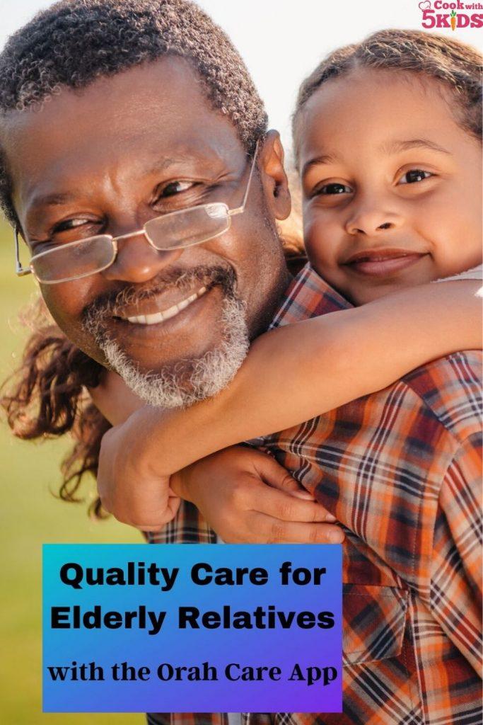 orah app, grandfather and grand daughter