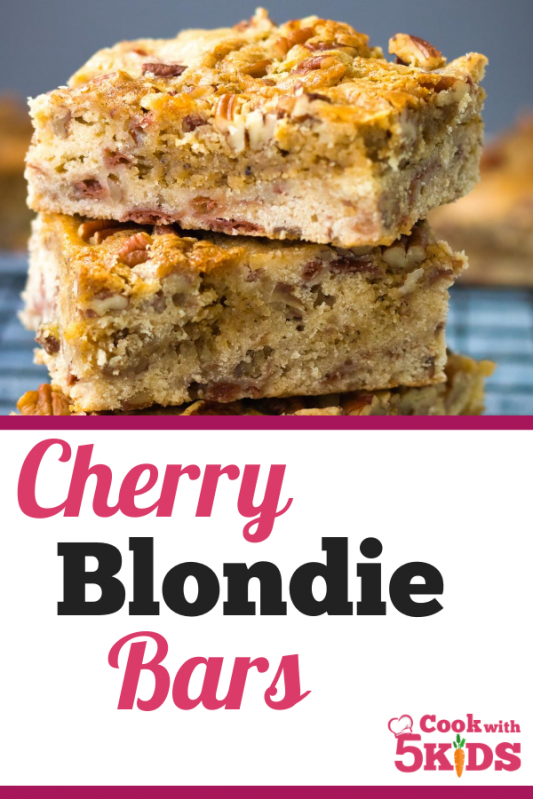 cherry blondie bars pinterest pin